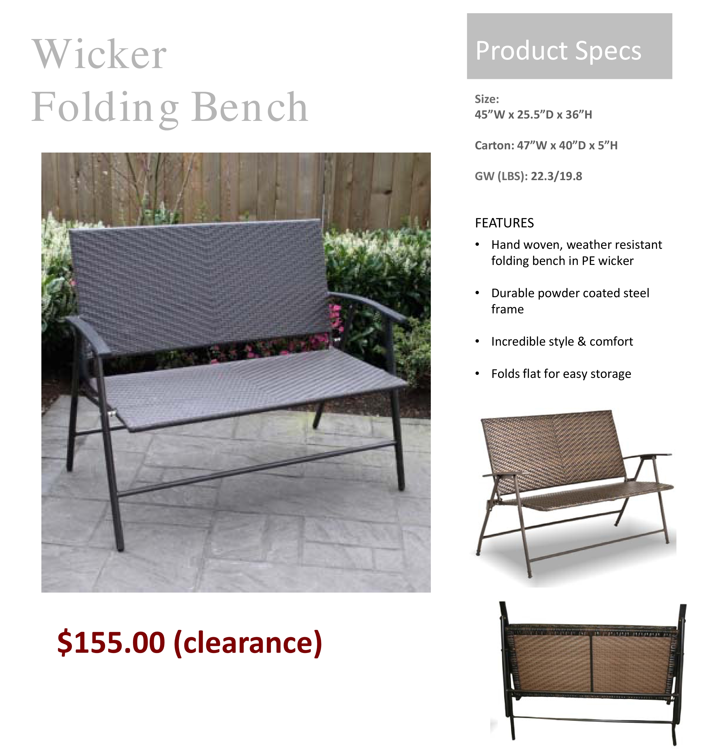 Deck home and patio inc budget friendly patio furniture for Budget friendly furniture
