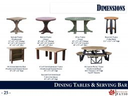 DINING TABLES & SERVING BAR by Recycled Patio