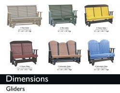 GLIDERS (DIMENSIONS) by Recycled Patio