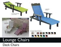 LOUNGE (DECK) CHAIRS by Recycled Patio