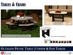 PICNIC, COFFEE & END TABLES by Recycled Patio