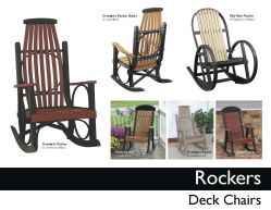 ROCKERS, DECK CHAIRS by Recycled Patio