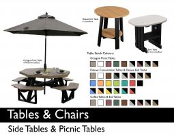 SIDE & PICNIC TABLES by Recycled Patio
