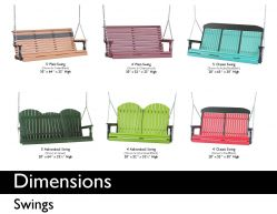 SWINGS (DIMENSIONS) by Recycled Patio