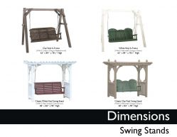 SWINGS STANDS (DIMENSIONS) by Recycled Patio