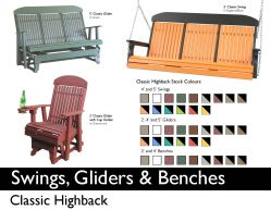 SWINGS, GLIDERS & BENCHES by Recycled Patio