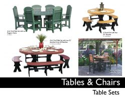 TABLES & CHAIR Sets by Recycled Patio