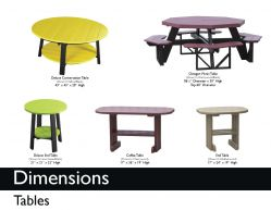 TABLES (DIMENSIONS) by Recycled Patio