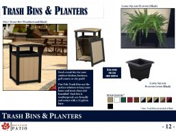TRASH BINS & PLANTERS by Recycled Patio