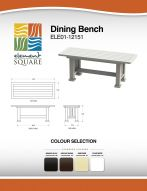 DINING BENCH by Element Square