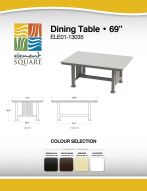DINING TABLE (69) by Element Square
