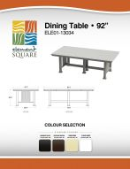 DINING TABLE (92) by Element Square