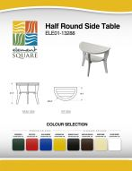 HALF ROUND SIDE TABLE by Element Square
