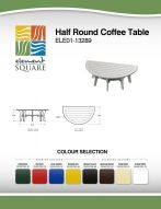 HALF ROUND COFFEE TABLE by Element Square