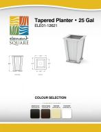 TAPERED PLANTER (25) by Element Square