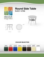 ROUND SIDE TABLE by Element Square
