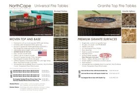 UNIVERSAL & GRANITE TOP FIRE TABLES by Northcape