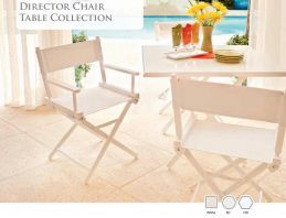 DIRECTOR CHAIR TABLE COLLECTION by Telescope Casual