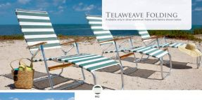 TELAWEAVE Folding Chaise by Telescope Casual