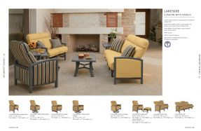 LAKESIDE URCOMFORT Cushion Sofas with Panels by Tropitone