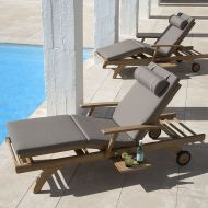 CAPRI Ultra Sun Lounger with Cushion by Barlow Tyrie