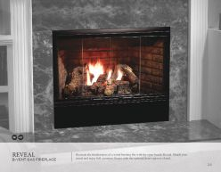 REVEAL B-VENT GAS Fireplace by Heat & Glow