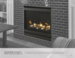 SLIMLINE FUSION DVG Fireplace by Heat & Glow