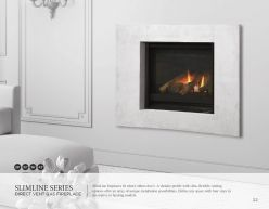 SLIMLINE Series DVG Fireplaces by Heat & Glow