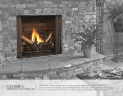 CAROLINA Outdoor Gas Fireplace by Heat & Glow