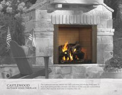CASTLEWOOD Outdoor Wood Fireplace by Heat & Glow