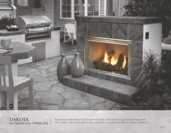 DAKOTA Outdoor Gas Fireplace by Heat & Glow