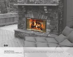 MONTANA Outdoor Wood Fireplace by Heat & Glow