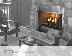 VILLA GAS Outdoor Gas Fireplace by Heat & Glow