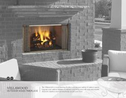 VILLAWOOD Outdoor Wood Fireplace by Heat & Glow