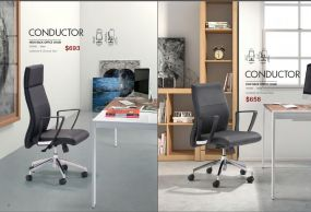 CONDUCTOR HIGH & LOW BACK OFFICE CHAIRS by Zuo
