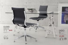 GLIDER CONFERENCE CHAIR & LADO DESK by Zuo