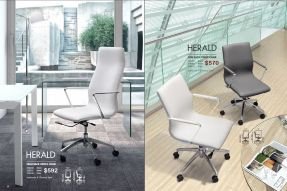 HERALD HIGH & LOW BACK OFFICE CHAIRS by Zuo