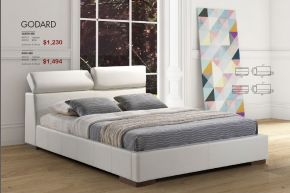 GODARD KING OR QUEEN BED by Zuo
