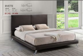 RIVETTE KING OR QUEEN BED by Zuo