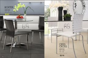 BOXTER & CRISS CROSS DINING CHAIRS by Zuo