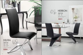 DELFIN & HERRON DINING CHAIRS by Zuo