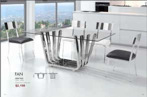 FAN DINING TABLE by Zuo