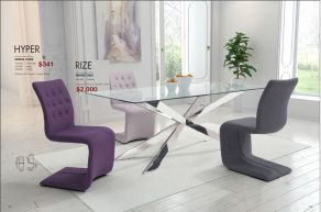 HYPER DINING CHAIRS & RIZE DINING TABLE by Zuo