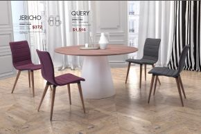 JERICHO DINING CHAIRS & QUERY DINING TABLE by Zuo