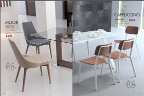 MOOR & CAPPUCCINO DINING CHAIRS by Zuo