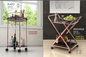 OLATO & VESUVIUS SERVING CARTS by Zuo