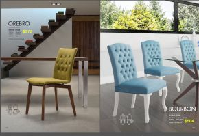 OREBRO & BOURBON DINING CHAIRS by Zuo