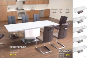 PIERREFRONDS EXTENSION DINING TABLE & ROSEMONT DINING CHAIR by Zuo