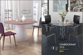 QUERY & CHARDONNAY DINING TABLES by Zuo