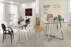 ROCA & LEMONDROP DINING TABLE by Zuo